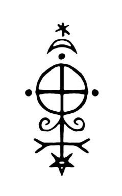 Sigil to prevent burnout, created by Laura Tempest Zakroff and her students